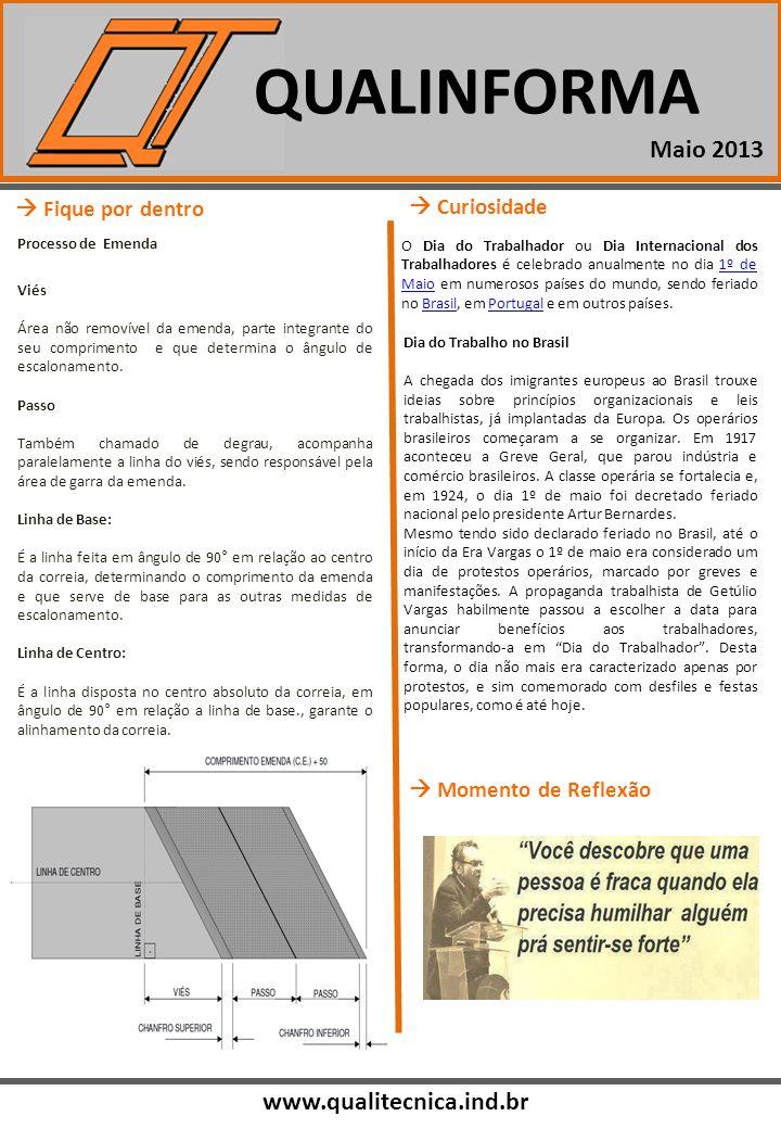 QUALINFORMA www.qualitecnica.ind.br Momento de Reflexão Fique por dentro Processo de Emenda Viés Área não removível da emenda, parte integrante do seu