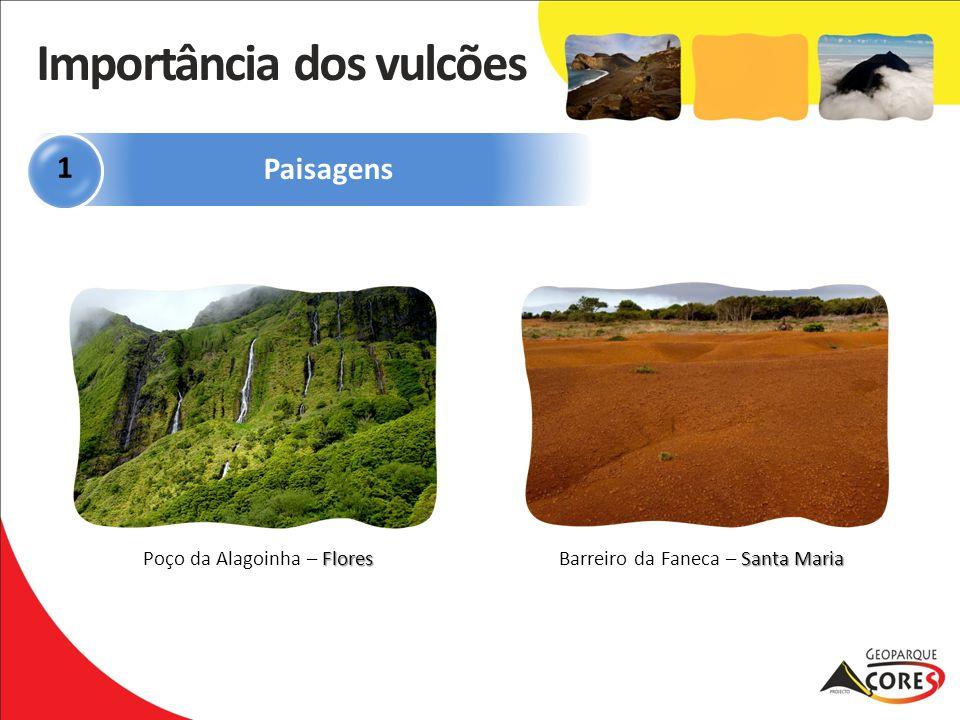 Flores Poço da Alagoinha – Flores Santa Maria Barreiro da Faneca – Santa Maria Paisagens 1 Importância dos vulcões