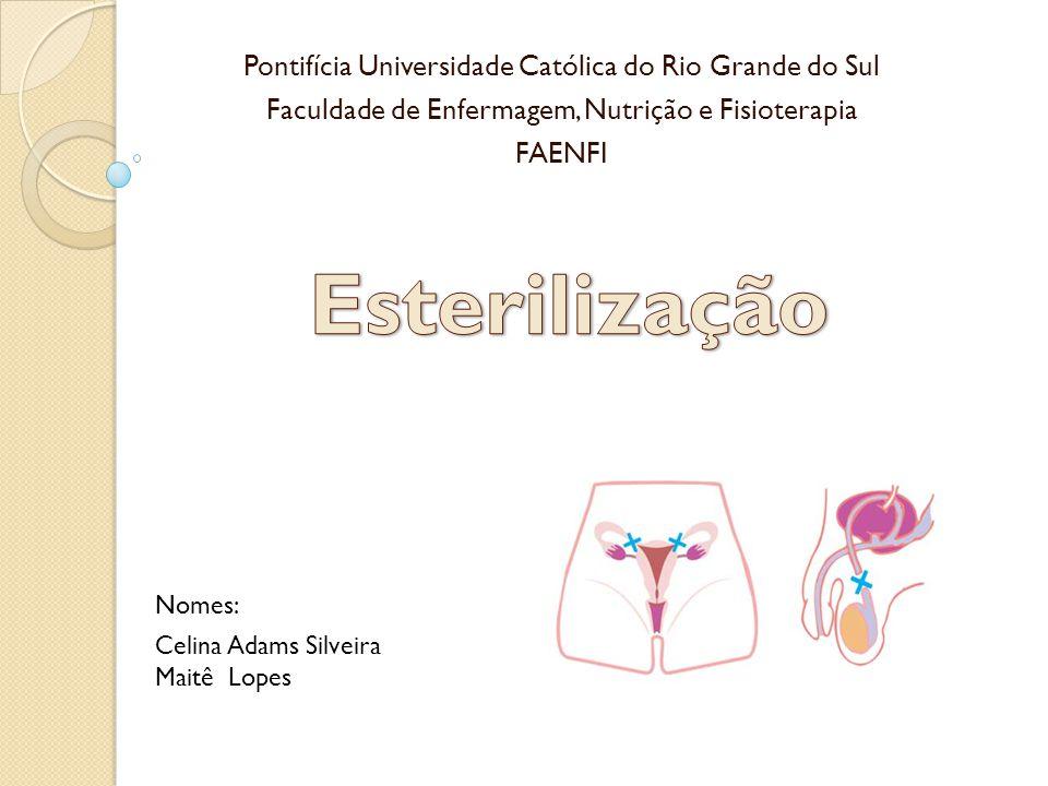 Pontifícia Universidade Católica do Rio Grande do Sul Faculdade de Enfermagem, Nutrição e Fisioterapia FAENFI Nomes: Celina Adams Silveira Maitê Lopes
