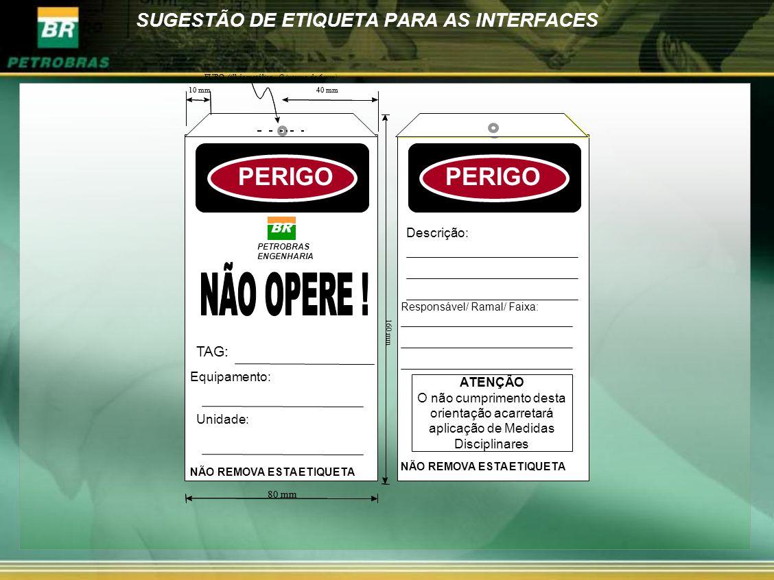 SUGESTÃO DE ETIQUETA PARA AS INTERFACES