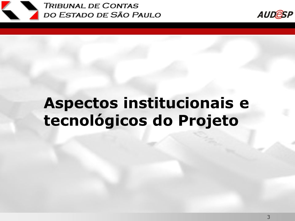 3 Aspectos institucionais e tecnológicos do Projeto
