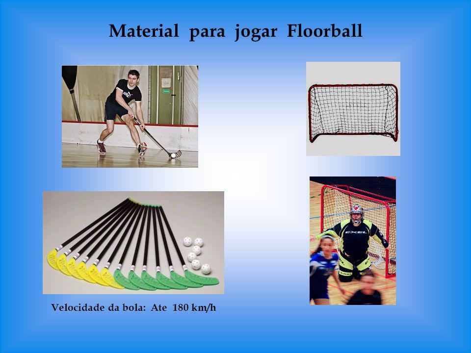 Material para jogar Floorball Velocidade da bola: Ate 180 km/h