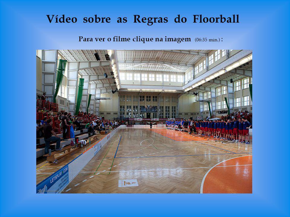 Modalidades do Floorball Jogo na quadra pequena (futsal) 16 m x 28 m com 1 goleiro e 3 jogadores de cada equipe na quadra.