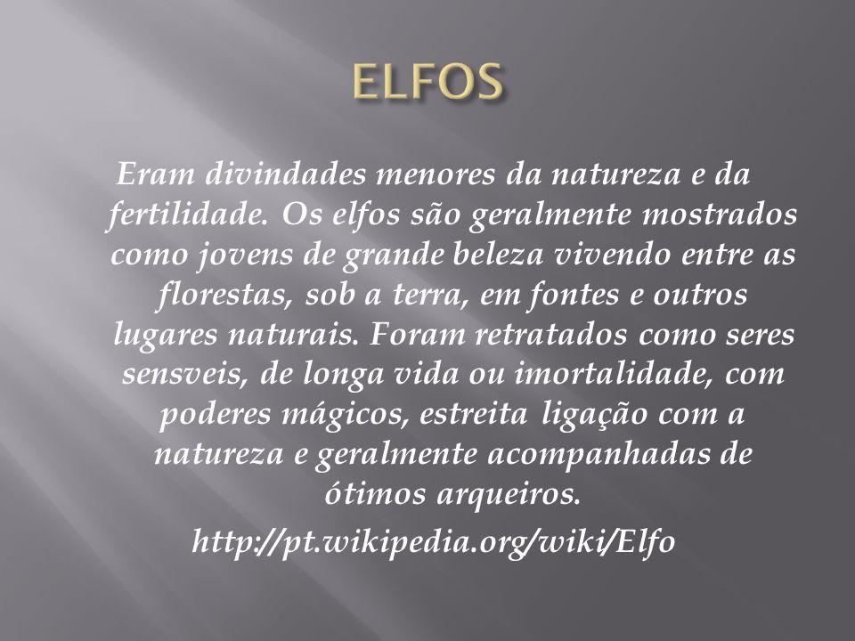 Elfo é uma criatura mística da Mitologia Nórdica, que aparece com freqüência na literatura medieval européia.