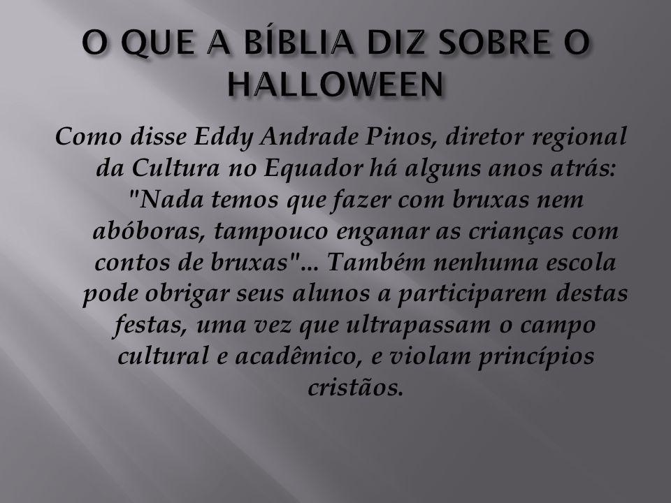CONCLUSÃO: Embora nem todos tenham consciência disso, uma tremenda guerra espiritual está ocorrendo bem acima de nossas cabeças, e o Halloween é uma d
