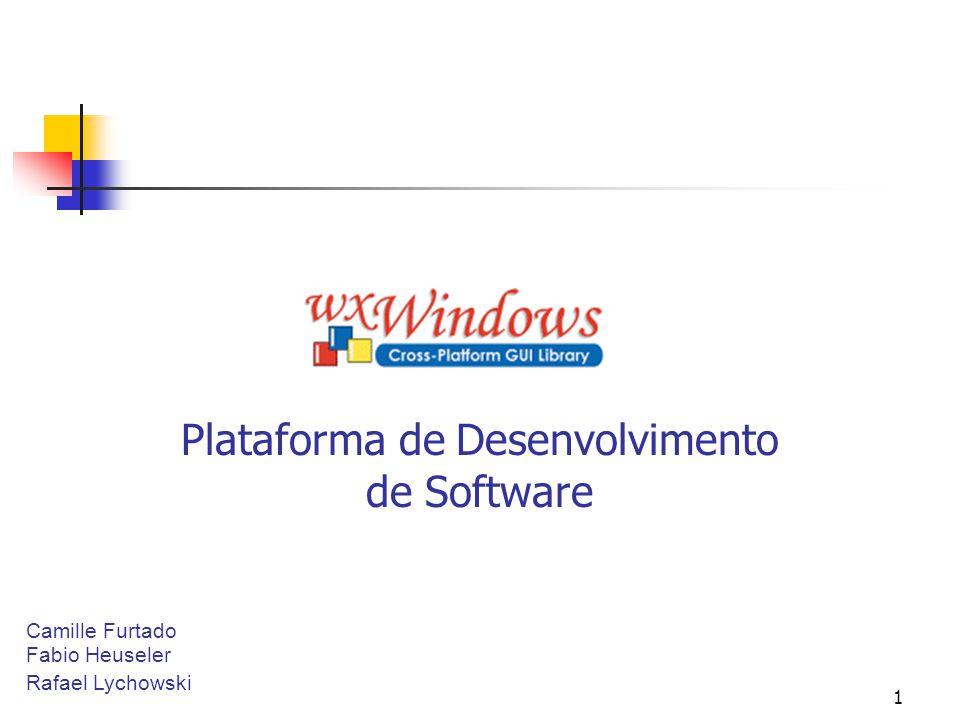 12 Linguagens de mais alto nível O wxWindows está sendo importado para ser usado com algumas linguagens de mais alto nível