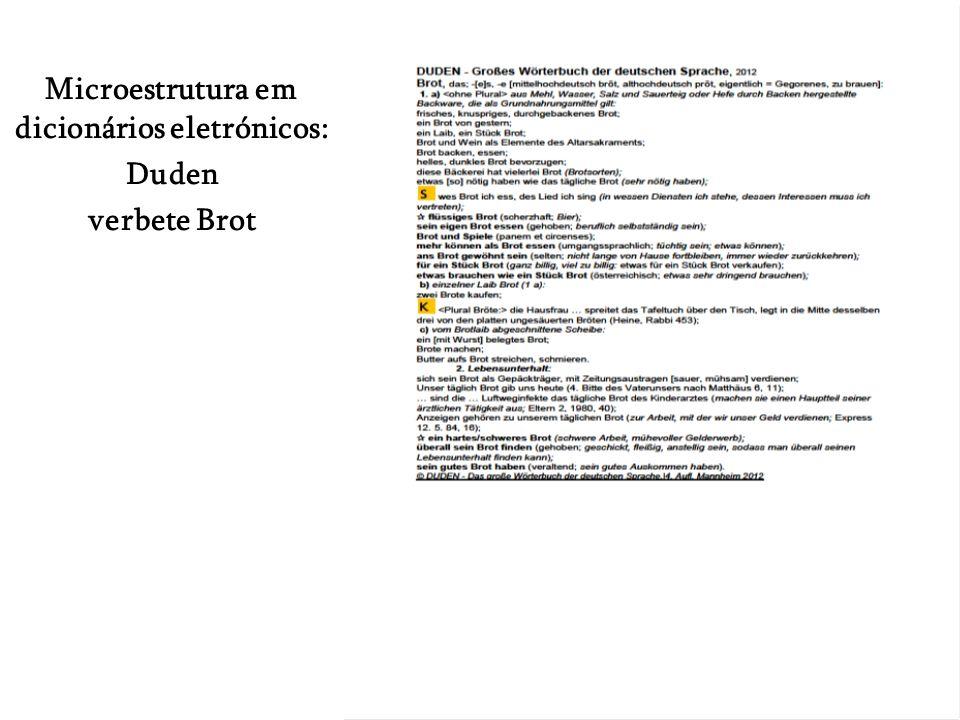 Microestrutura em dicionários eletrónicos: Duden verbete Brot