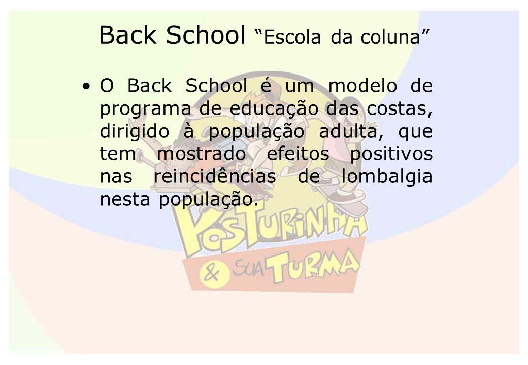 O Back School é um modelo de programa de educação das costas, dirigido à população adulta, que tem mostrado efeitos positivos nas reincidências de lom