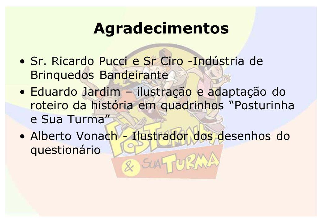 Agradecimentos Sr. Ricardo Pucci e Sr Ciro -Indústria de Brinquedos Bandeirante Eduardo Jardim – ilustração e adaptação do roteiro da história em quad
