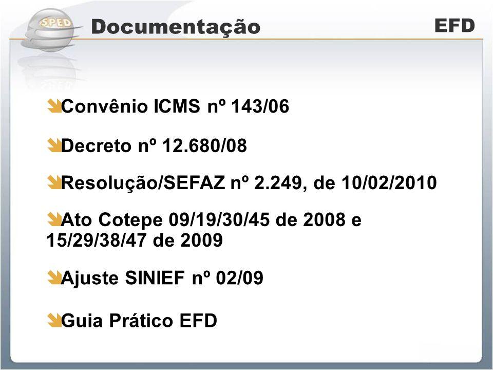 Livros Abrangidos EFD Registro de Entradas Registro de Saídas Registro de Apuração do ICMS Registro de Apuração do IPI Registro de Inventário Controle de Crédito de ICMS do Ativo Permanente (julho/2010)