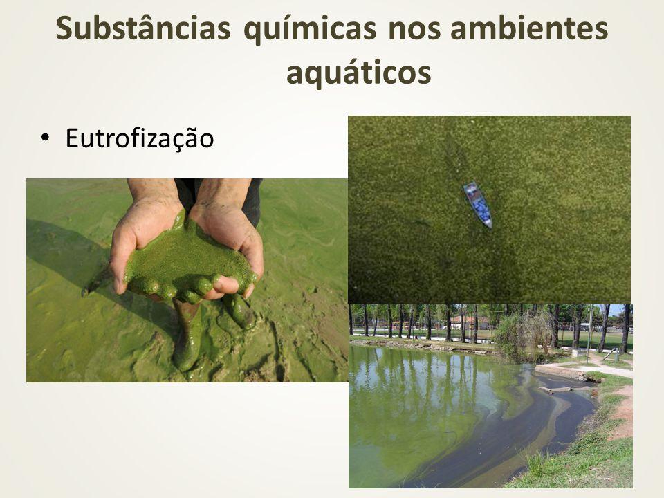 Substâncias químicas nos ambientes aquáticos Eutrofização