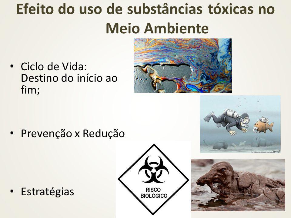 Ciclo de Vida: Destino do início ao fim; Prevenção x Redução Estratégias Efeito do uso de substâncias tóxicas no Meio Ambiente