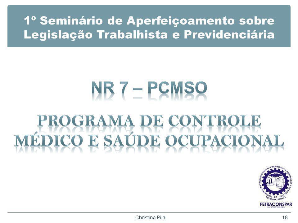 1º Seminário de Aperfeiçoamento sobre Legislação Trabalhista e Previdenciária Christina Pila18