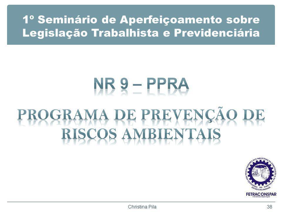 1º Seminário de Aperfeiçoamento sobre Legislação Trabalhista e Previdenciária Christina Pila38