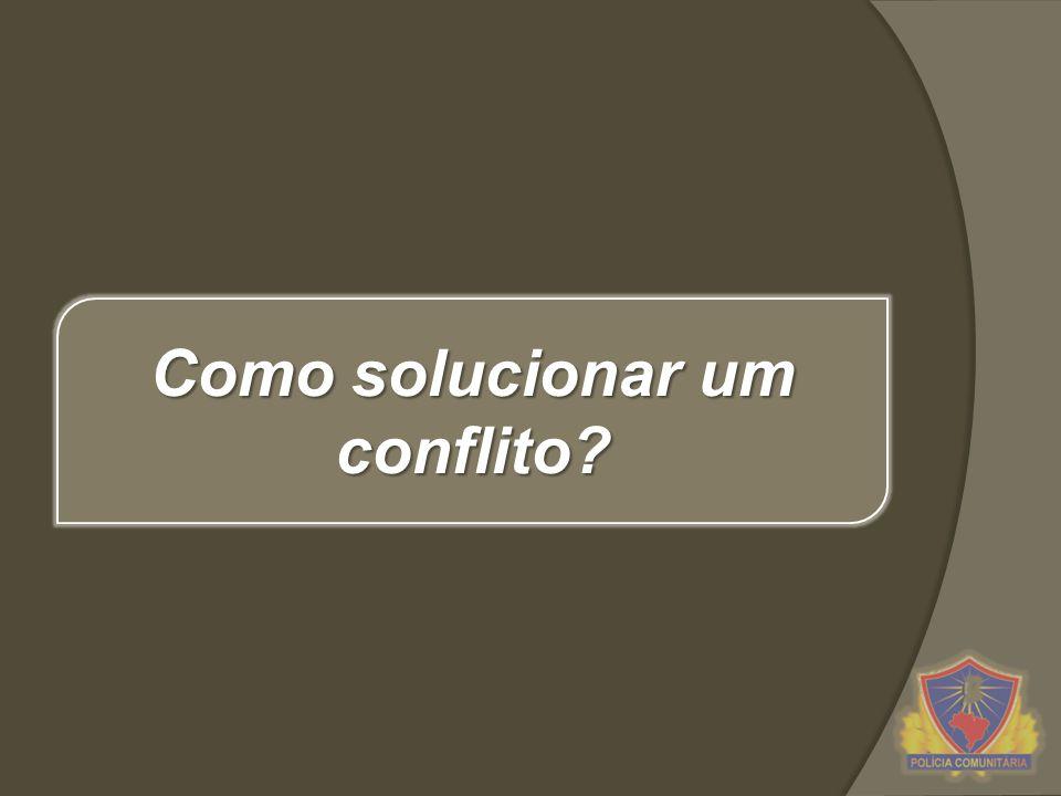 Como solucionar um conflito?