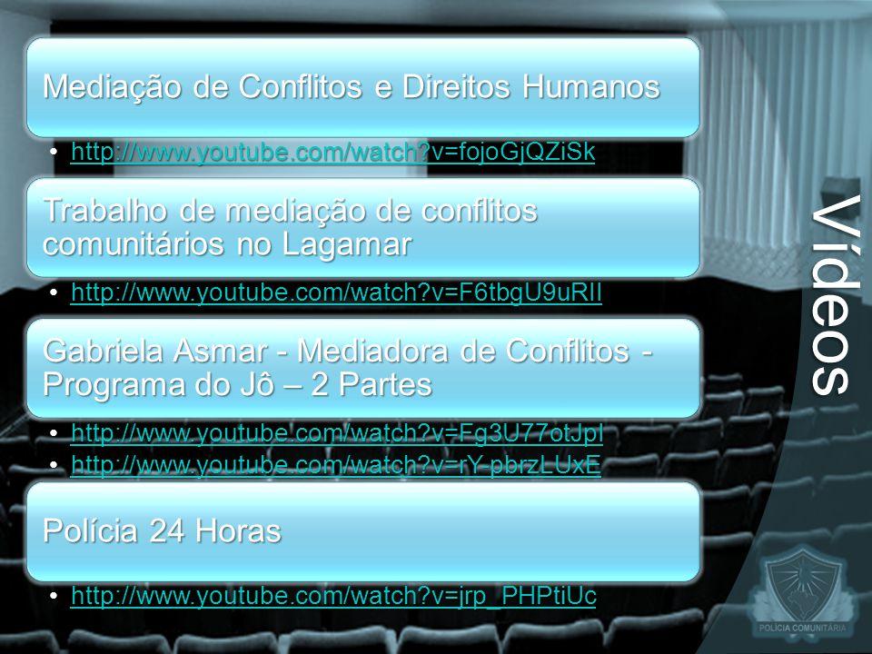Mediação de Conflitos e Direitos Humanos http://www.youtube.com/watch?v=fojoGjQZiSkhttp://www.youtube.com/watch?v=fojoGjQZiSkhttp://www.youtube.com/wa