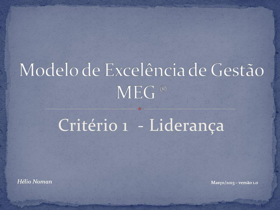 Critério 1 - Liderança Março/2013 – versão 1.0 Hélio Noman