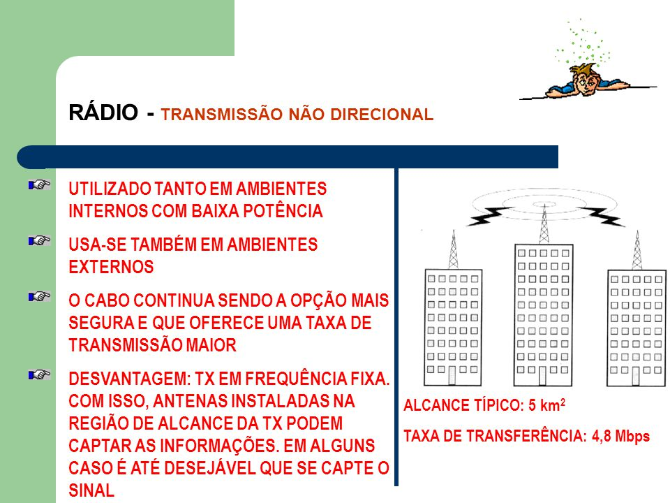IEEE-802.11 DSSS ( DIRECT SEQUENCE SPREAD SPECTRUM)AIRPORT AIRPORT AIRPORT É O NOME COMERCIAL QUE A APPLE DÁ AO SISTEMA DSSS QUE VEM EMBUTIDO EM SEUS COMPUTADORES MACINTOSH AIRPORTDSSS AIRPORT e DSSS SÃO SINÔNIMOS AIRPORT A ÁREA DE ALCANCE DO AIRPORT É DE 45 m
