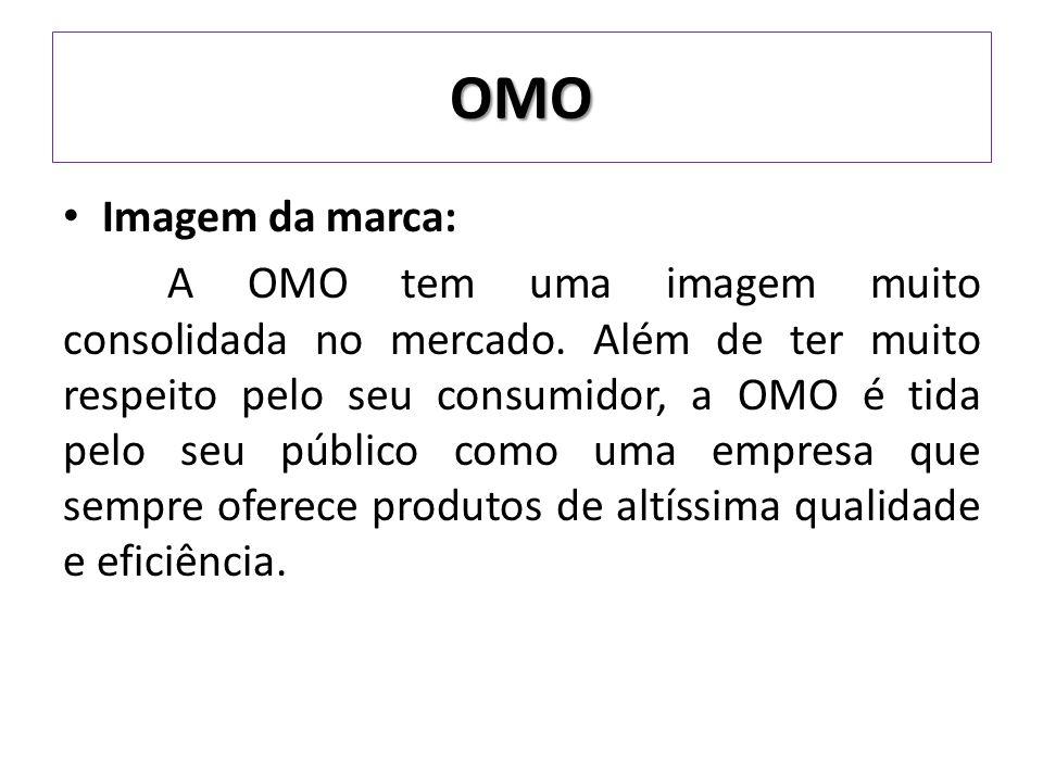 Imagem da marca: A OMO tem uma imagem muito consolidada no mercado.