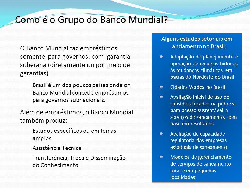 Alguns estudos setoriais em andamento no Brasil; Adaptação do planejamento e operação de recursos hídricos às mudanças climáticas em bacias do Nordest