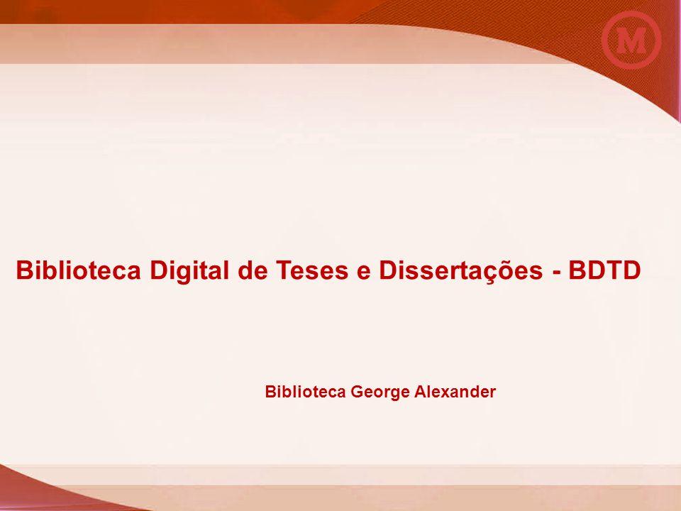 Universidade Presbiteriana Mackenzie Biblioteca George Alexander Biblioteca Digital de Teses e Dissertações - BDTD Biblioteca George Alexander