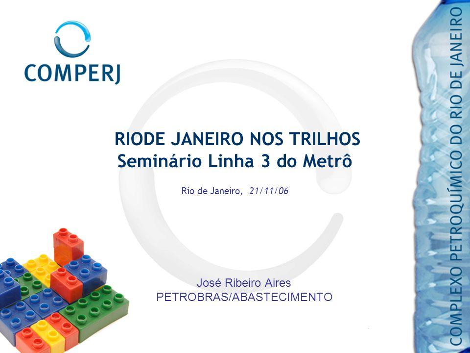 RIODE JANEIRO NOS TRILHOS Seminário Linha 3 do Metrô Rio de Janeiro, 21/11/06 José Ribeiro Aires PETROBRAS/ABASTECIMENTO