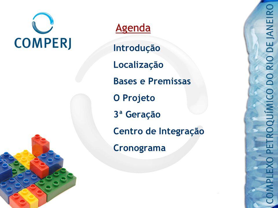 Agenda Introdução Localização Bases e Premissas O Projeto 3ª Geração Centro de Integração Cronograma