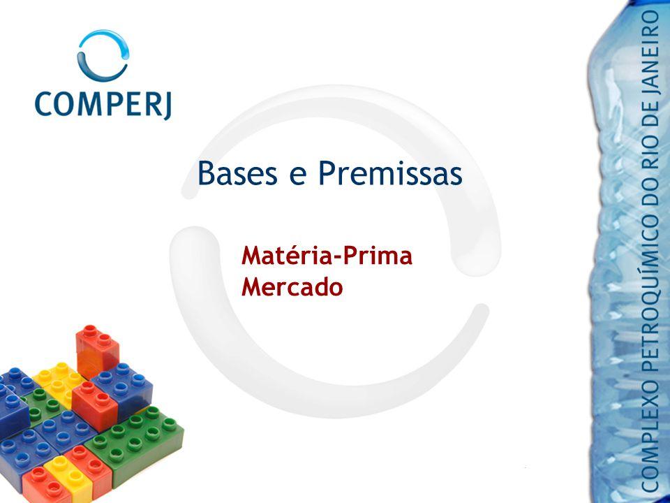 Matéria-Prima Petróleo Marlim – Bacia de Campos Quantidade: 150 mil bpd COMPERJ – utilização de matéria-prima não convencional (petróleo pesado produzido na Bacia de Campos), com tecnologia desenvolvida ou adaptada pela Petrobras.