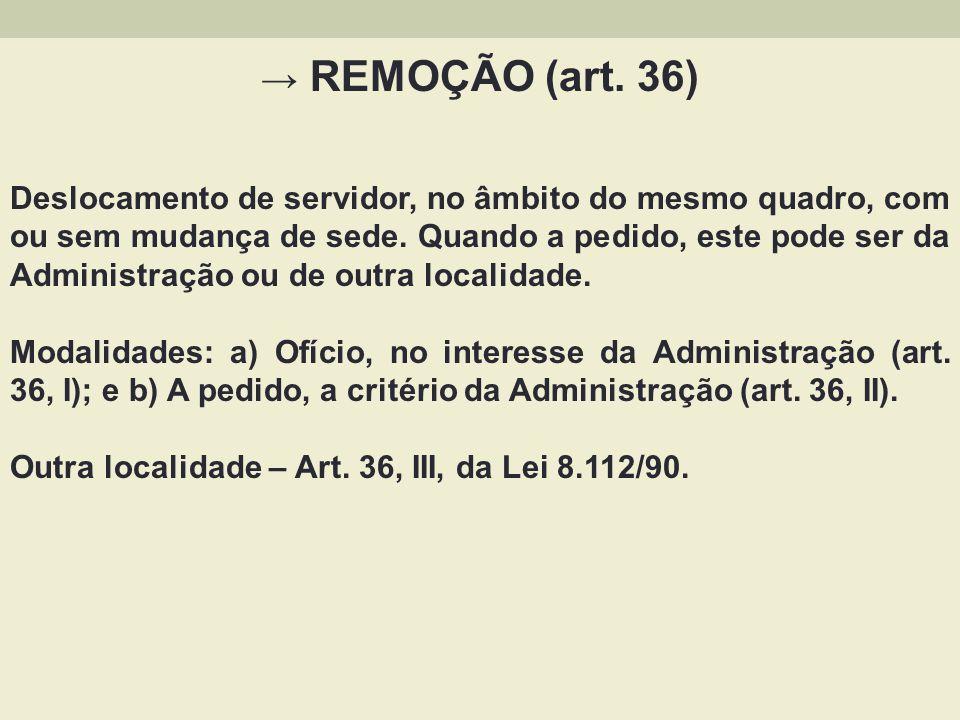 REDISTRIBUIÇÃO (art.