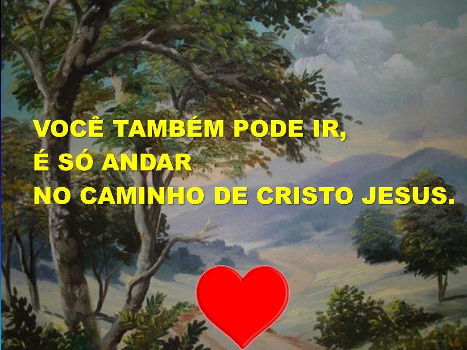 O SENHOR É O BOM PASTOR VOCÊ TAMBÉM PODE IR, VOCÊ TAMBÉM PODE IR, É SÓ ANDAR É SÓ ANDAR NO CAMINHO DE CRISTO JESUS. NO CAMINHO DE CRISTO JESUS.