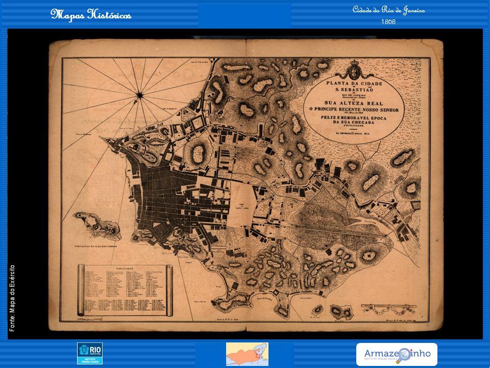 Mapas Históricos Cidade do Rio de Janeiro e Niterói 1888 Fonte: Mapa do Exército