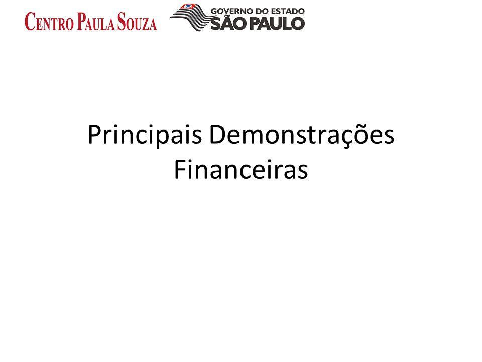 Principais Demonstrações Financeiras
