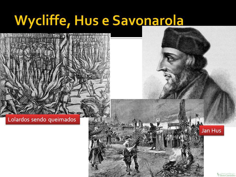 Lolardos sendo queimados Jan Hus