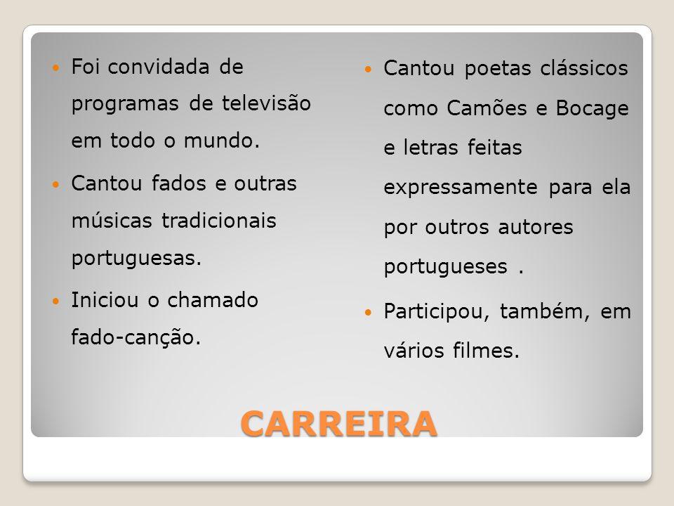 CARREIRA Foi convidada de programas de televisão em todo o mundo.