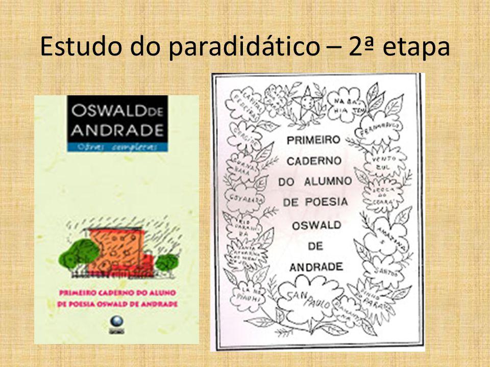 Estudo do paradidático – 2ª etapa
