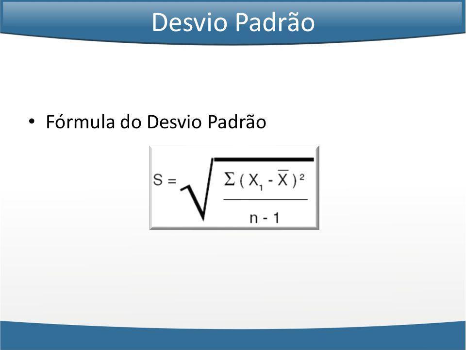 Fórmula do Desvio Padrão