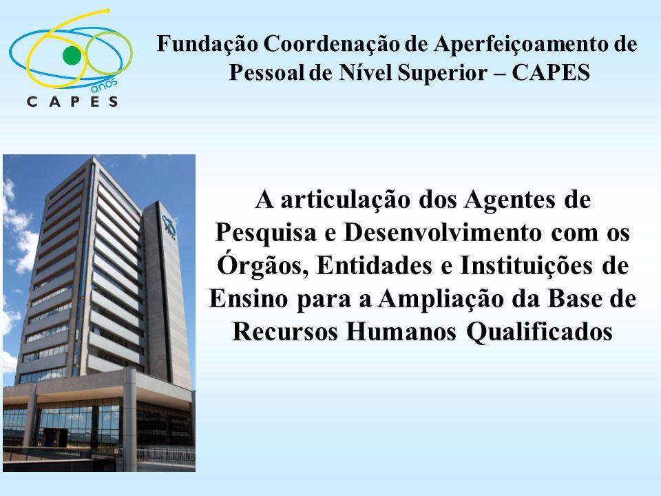 A articulação dos Agentes de Pesquisa e Desenvolvimento com os Órgãos, Entidades e Instituições de Ensino para a Ampliação da Base de Recursos Humanos