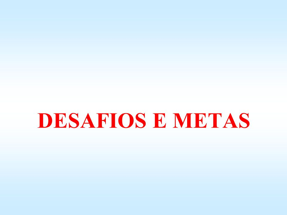 DESAFIOS E METAS