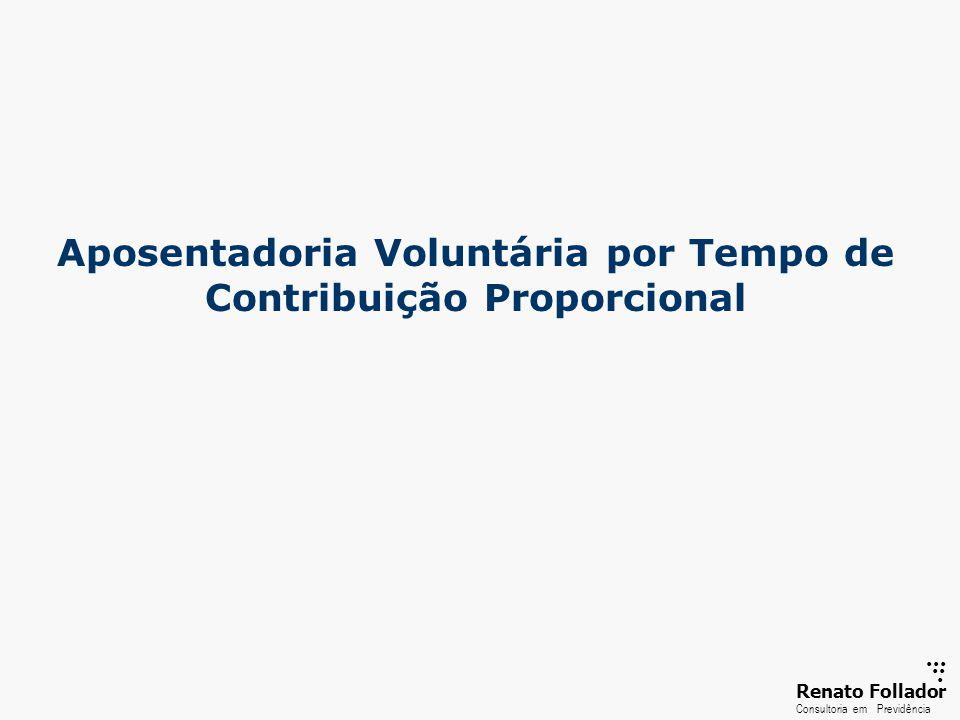 ...... RenatoFollador Consultoria emPrevidência Aposentadoria Voluntária por Tempo de Contribuição Proporcional