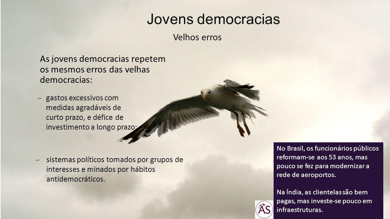 As jovens democracias repetem os mesmos erros das velhas democracias: Jovens democracias Velhos erros gastos excessivos com medidas agradáveis de curt