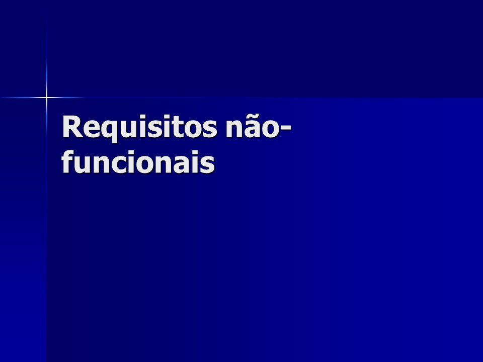 Requisitos não- funcionais