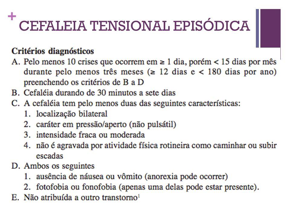 + CEFALEIA TENSIONAL EPISÓDICA