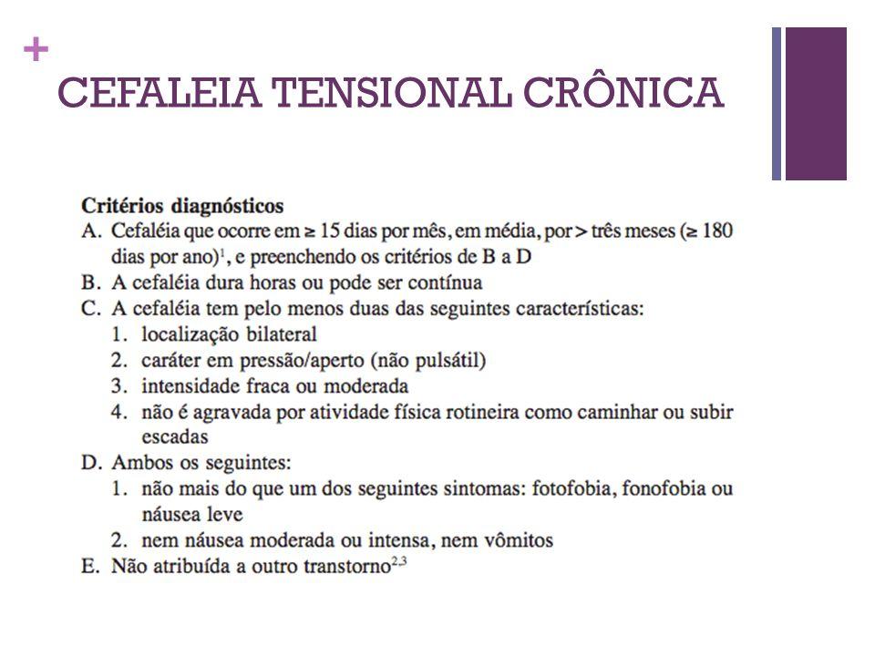 + CEFALEIA TENSIONAL CRÔNICA