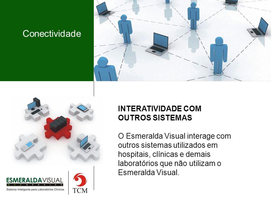Conectividade INTERATIVIDADE COM OUTROS SISTEMAS O Esmeralda Visual interage com outros sistemas utilizados em hospitais, clínicas e demais laboratórios que não utilizam o Esmeralda Visual.
