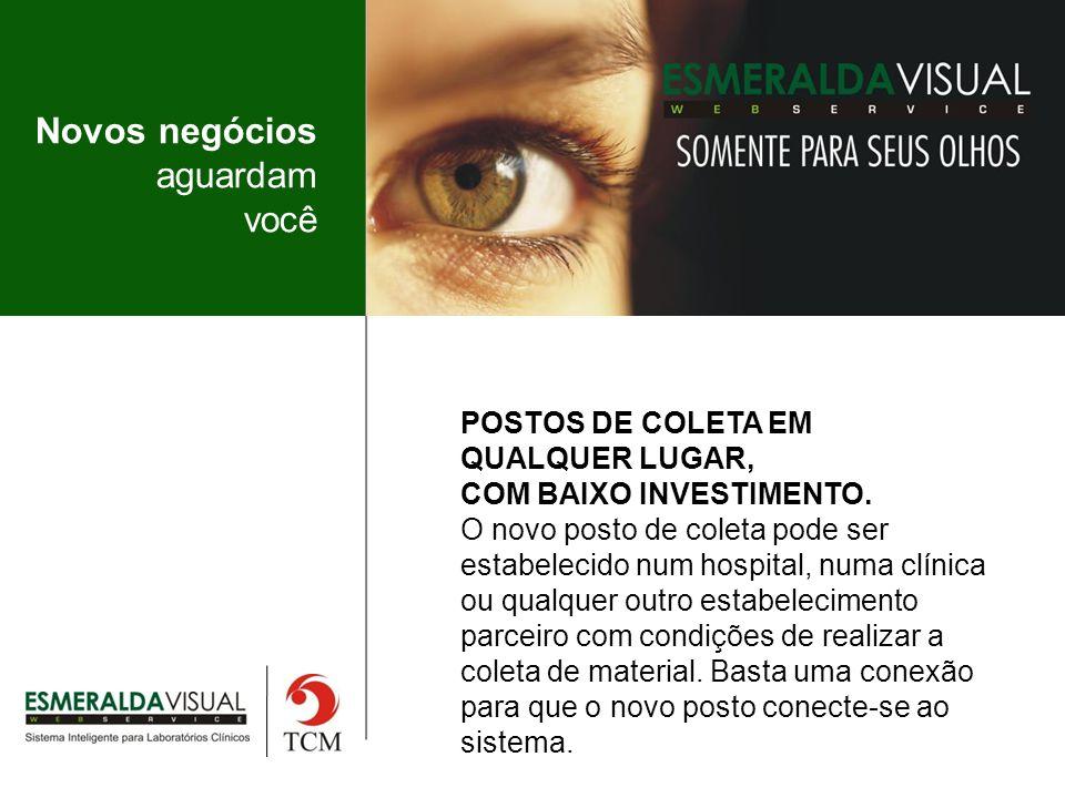 Novos negócios aguardam você POSTOS DE COLETA EM QUALQUER LUGAR, COM BAIXO INVESTIMENTO.