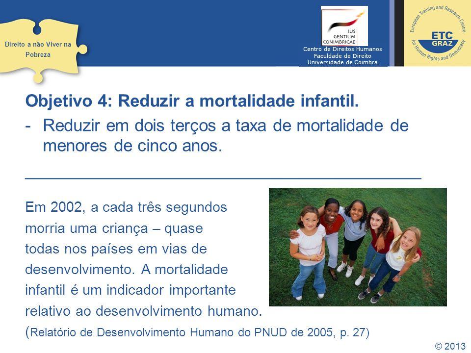 © 2013 Objetivo 5: Melhorar a saúde materna.