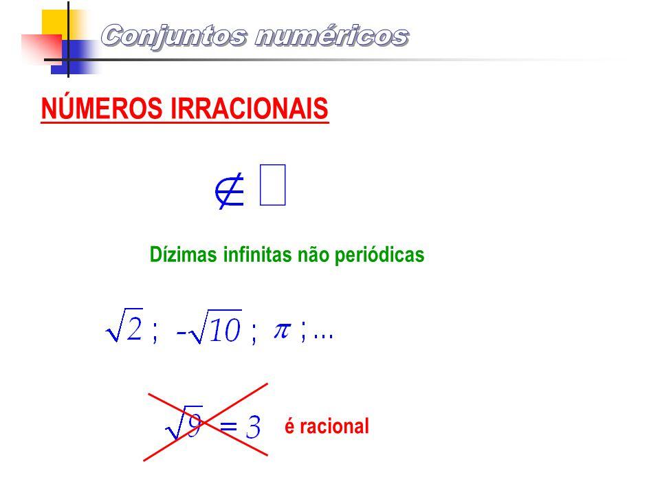 NÚMEROS IRRACIONAIS Dízimas infinitas não periódicas é racional