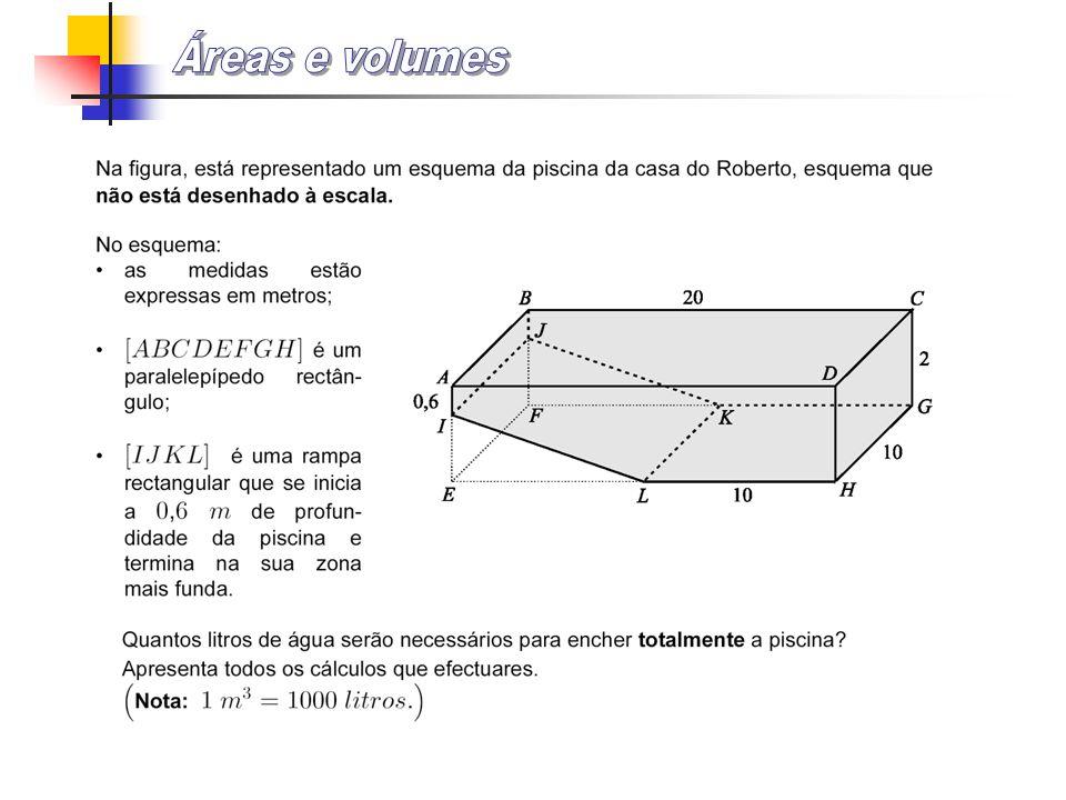 Observa o prisma pentagonal da figura. Identifica a sua base e a sua altura. Qual a fórmula para calcular o seu volume? base altura