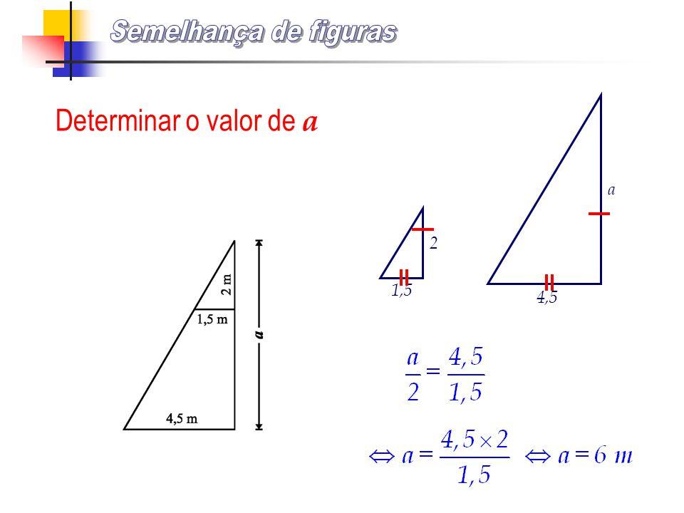 Determinar o valor de a 1,5 2 4,5 a