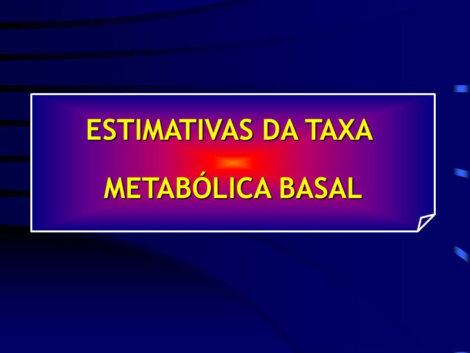 ESTIMATIVAS DA TAXA METABÓLICA BASAL
